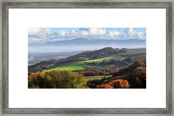 Drome Hills With Vercors Mountains Framed Print