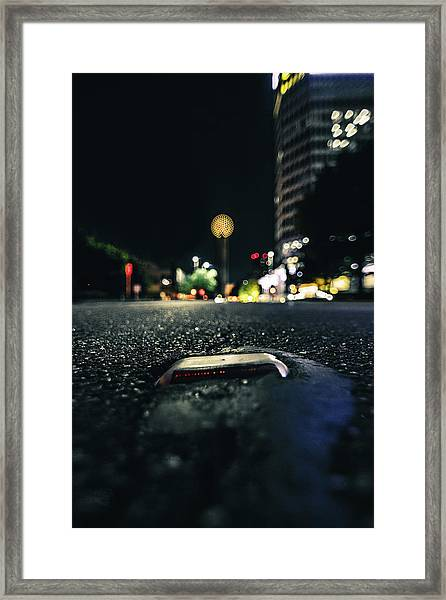 Dropped Pin Framed Print