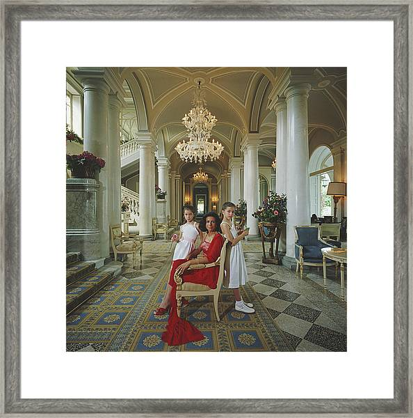 Droulers And Daughters Framed Print by Slim Aarons