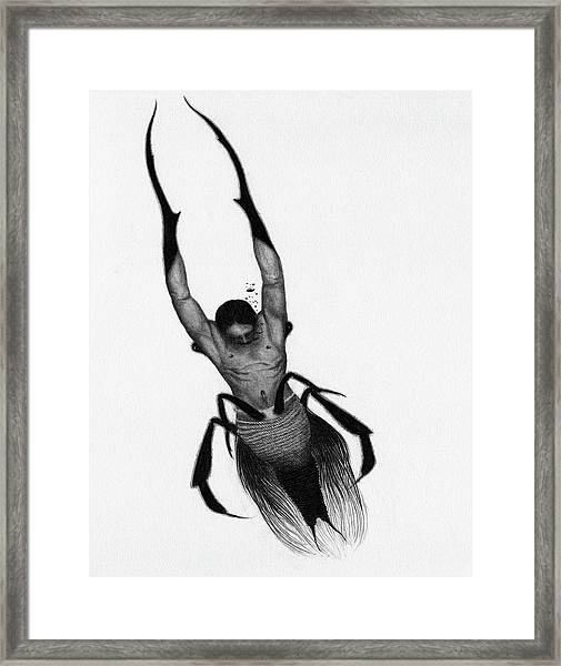 Drowned Samurai Kaito - Artwork Framed Print