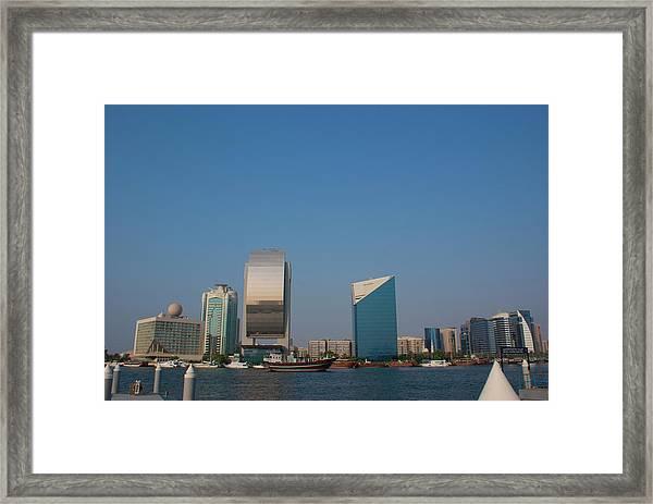 Dubai Creek Framed Print