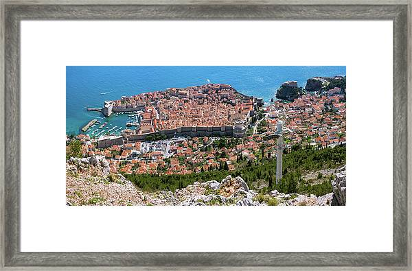 Dubrovnik Panorama From The Hill Framed Print