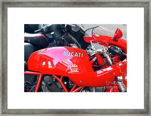 Ducati In Rome Framed Print