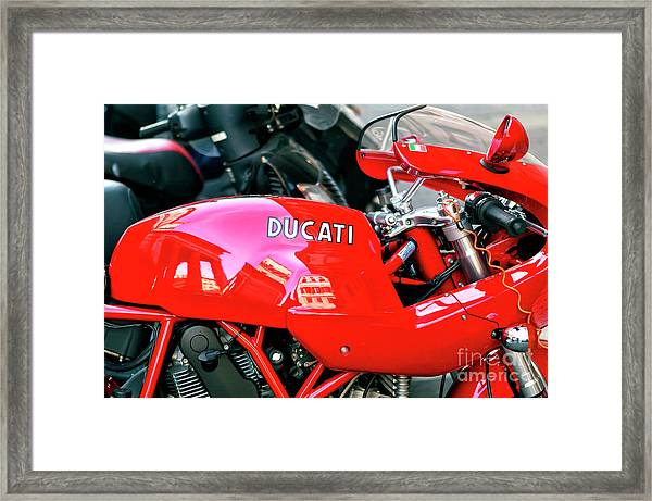 Ducati Reflections In Rome Framed Print