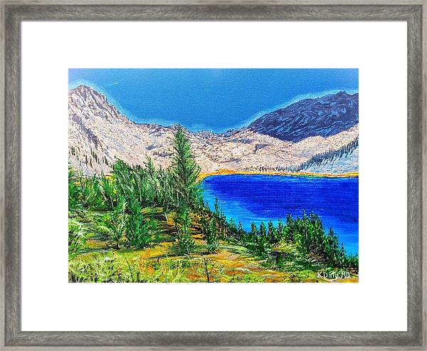 Framed Print featuring the painting Duck Pass by Kevin Daly