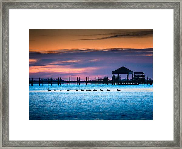 Duck Sunset - Outer Banks North Carolina Framed Print