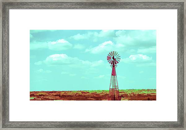 Dueling Tones Windmill Framed Print