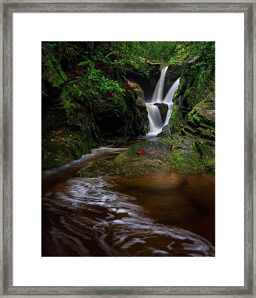 Duggers Creek Falls - Blue Ridge Parkway - North Carolina Framed Print