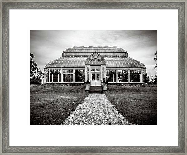 Framed Print featuring the photograph Duke Farms Conservatory by Steve Stanger