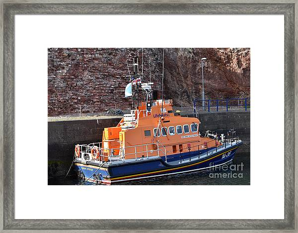 Dunbar Lifeboat Framed Print by Yvonne Johnstone