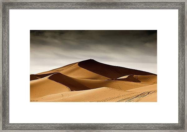 Dunes And Shadows Framed Print