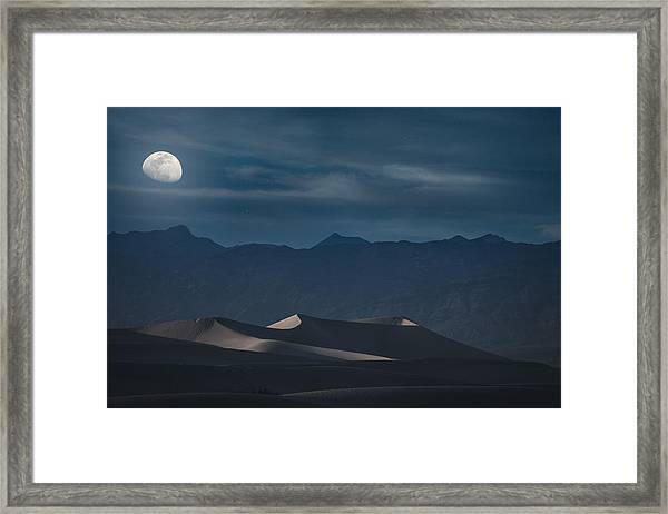Dunes Of The Death Valley Framed Print