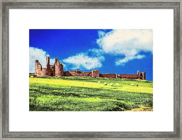 Dunstanburgh Castle In Oil Framed Print