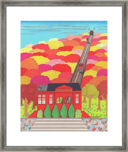 Duquesne Incline Framed Print