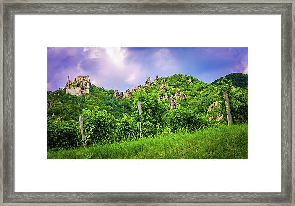Durnstein Vineyard Framed Print
