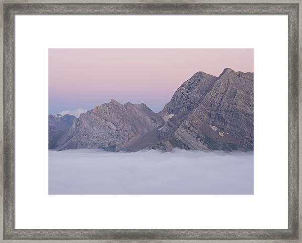 Dusk Above Gavarnie Framed Print