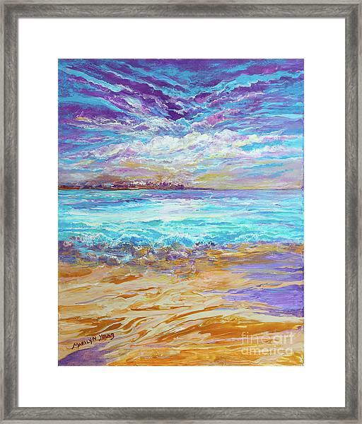Dusk At The Beach Framed Print