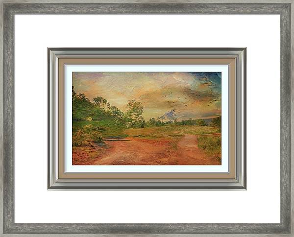 Dusk In The Hills Framed Print