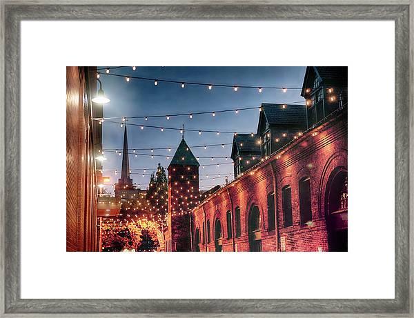 Dusk Lights Framed Print