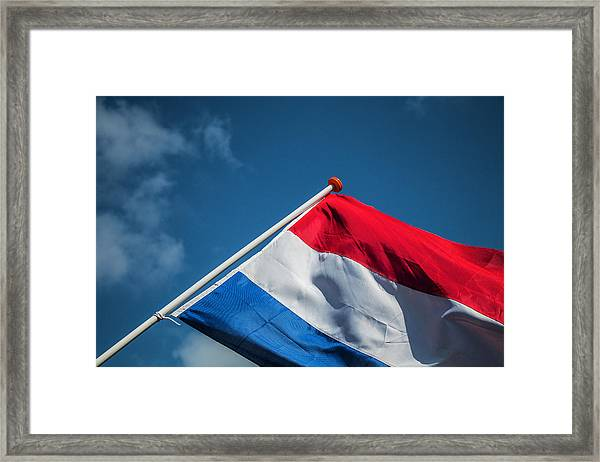 Framed Print featuring the photograph Dutch Flag by Anjo Ten Kate