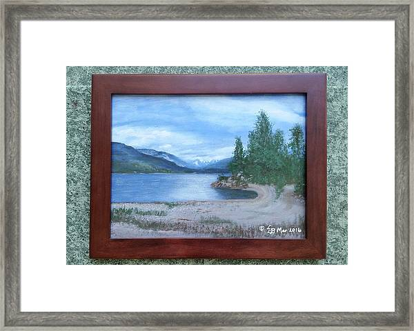 Dutch Harbour, Kootenay Lake Framed Print