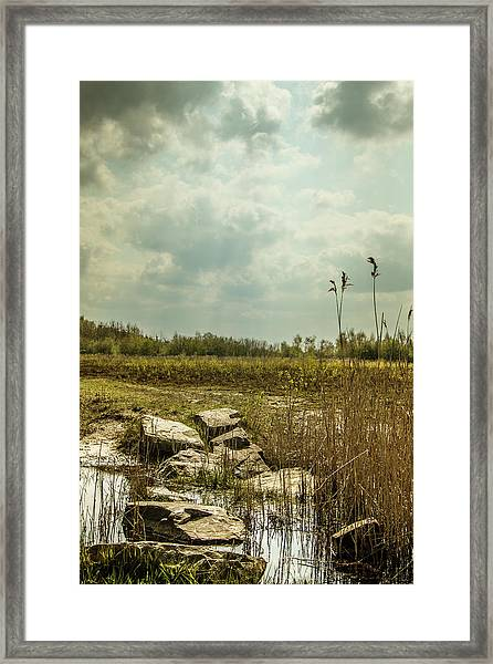 Framed Print featuring the photograph Dutch Landscape. by Anjo Ten Kate