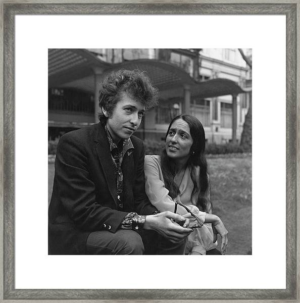 Dylan And Baez Framed Print by Keystone