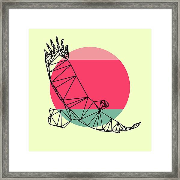 Eagle And Sunset Framed Print