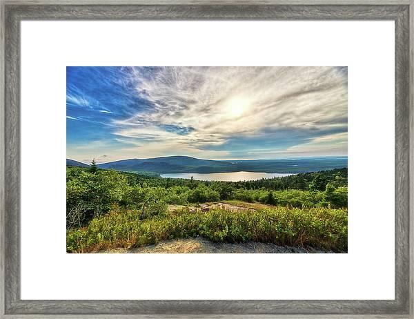 Eagle Lake Framed Print by Zev Steinhardt