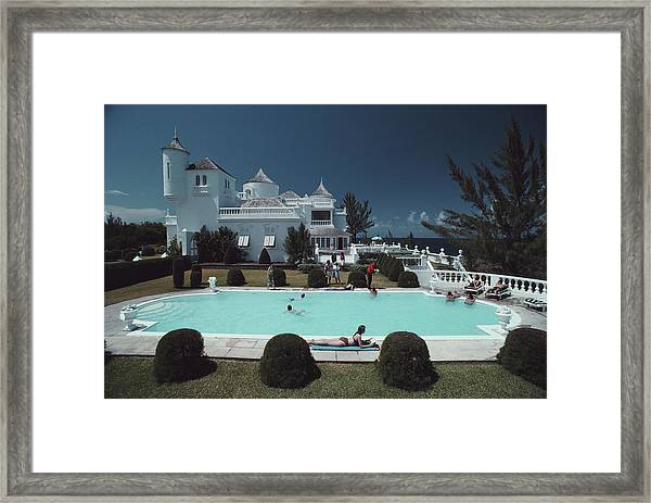 Earl Levys Castle Framed Print by Slim Aarons