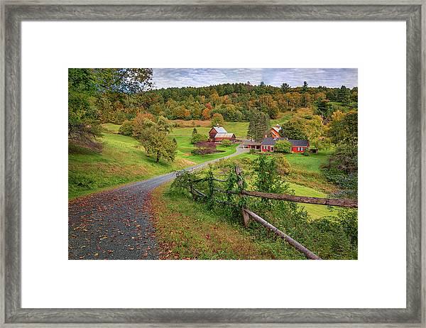 Early Fall At Sleepy Hollow Farm Framed Print