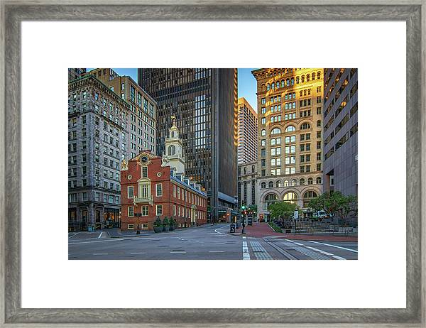 Early Morning At The Old Statehouse Framed Print