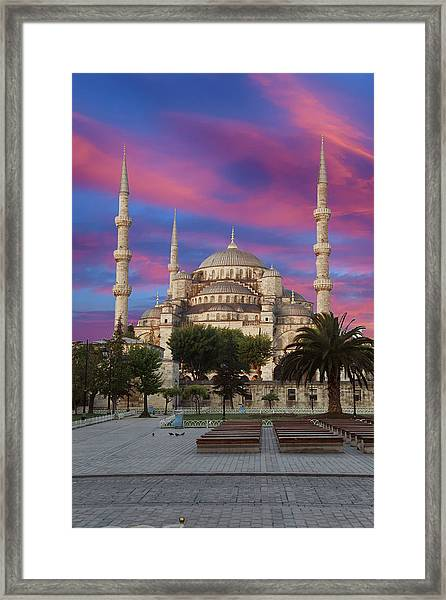 Early Morning Light On  Sultan Ahmet Camii Framed Print