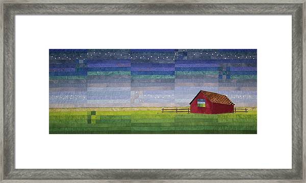 Early Morning Nine Patch Framed Print