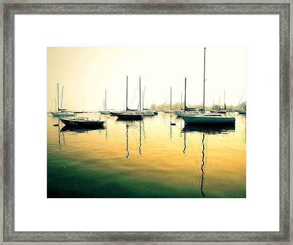 Early Mornings At The Harbour Framed Print