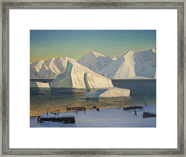 Early November North Greenland Framed Print by Rockwell Kent