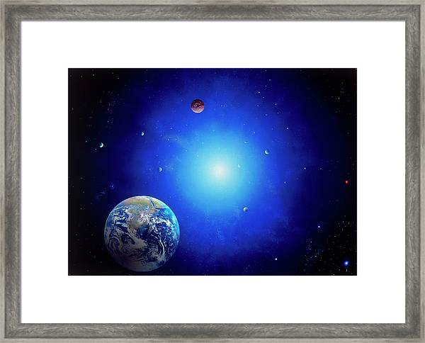 Earth & Sun Framed Print