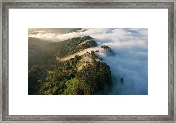 East Bay Morning Hills Framed Print by Vincent James