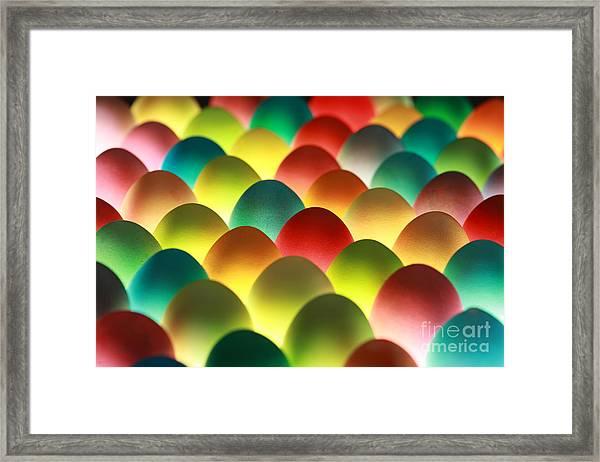 Easter Eggs Background Framed Print