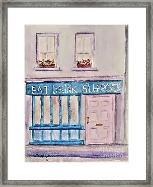 Eat Drink Sleepover Framed Print