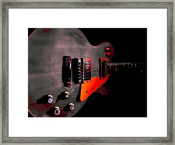 Ebony Relic Guitar Hover Series Framed Print