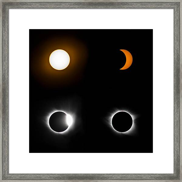 Eclipse Phases Framed Print by Christine Buckley