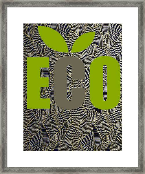 Eco Green Framed Print