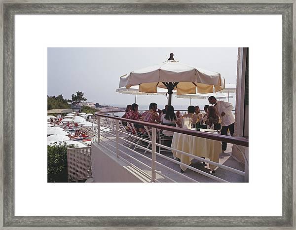 Eden Roc Terrace Framed Print