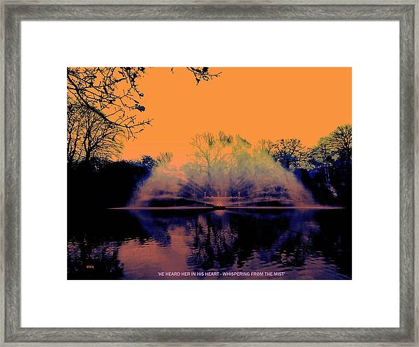 Edit This 14 - Mist Framed Print