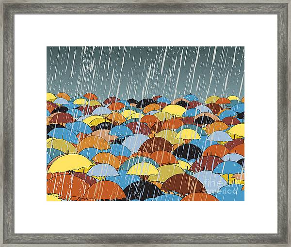 Editable Vector Illustration Of Framed Print