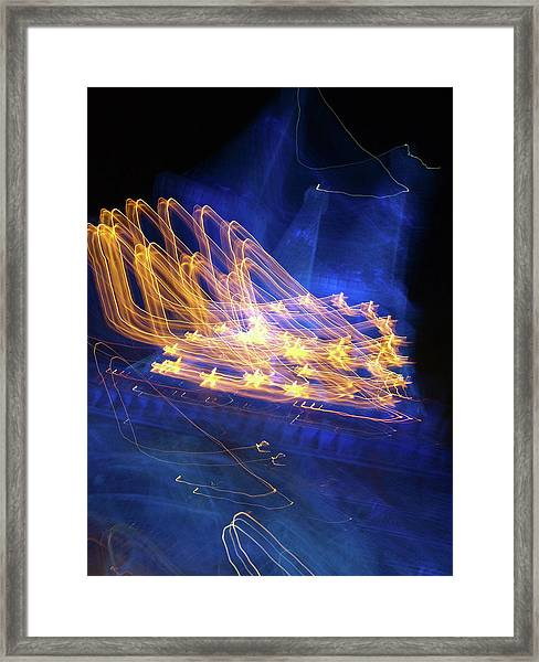 Effiel Tower, Blurred Framed Print