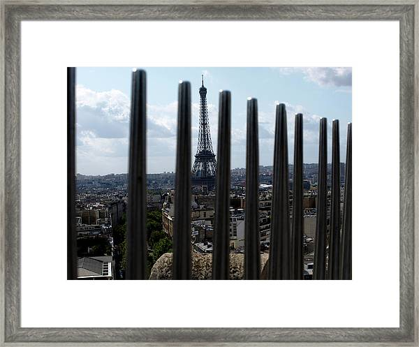 Eiffel Tower, Distant Framed Print