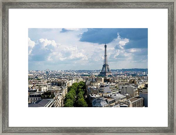 Eiffel Tower View From Arc De Triomphe Framed Print