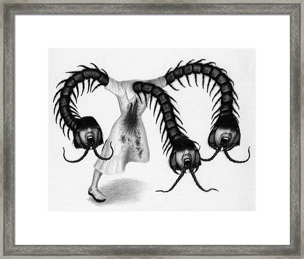 Eiko The Demon - Artwork Framed Print